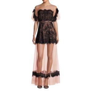 TJD The Jetset Diaries Dulce Mesh Lace Maxi Dress